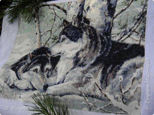 Вышивка крестом Волки на