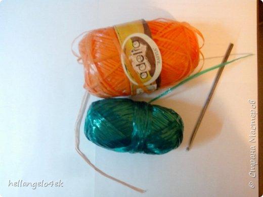 Вязание ручки для мочалки