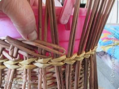 Мастер-класс Поделка изделие Плетение Двойная загибка Трубочки бумажные фото 5