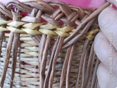 Мастер-класс Поделка изделие Плетение Двойная загибка Трубочки бумажные фото 8