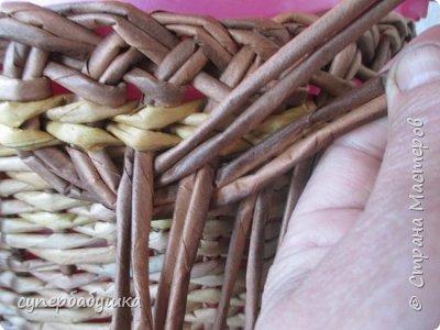 Мастер-класс Поделка изделие Плетение Двойная загибка Трубочки бумажные фото 9