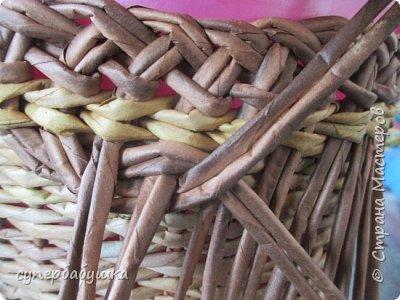 Мастер-класс Поделка изделие Плетение Двойная загибка Трубочки бумажные фото 10