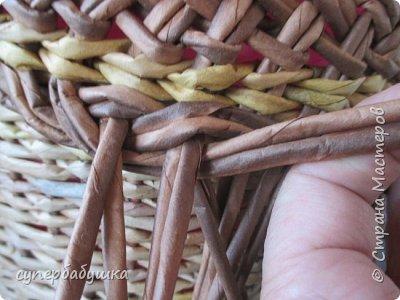 Мастер-класс Поделка изделие Плетение Двойная загибка Трубочки бумажные фото 11