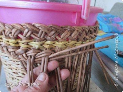 Мастер-класс Поделка изделие Плетение Двойная загибка Трубочки бумажные фото 12