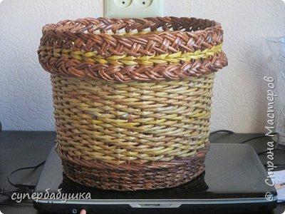 Мастер-класс Поделка изделие Плетение Двойная загибка Трубочки бумажные фото 14