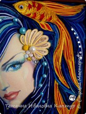 На простора интернета увидела роспись Екатерины Захваткиной. Очень захотелось сделать квиллингом. Вот что получилось. Название само пришло.  фото 2