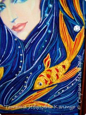На простора интернета увидела роспись Екатерины Захваткиной. Очень захотелось сделать квиллингом. Вот что получилось. Название само пришло.  фото 3