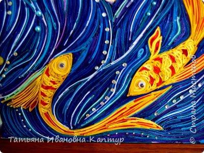На простора интернета увидела роспись Екатерины Захваткиной. Очень захотелось сделать квиллингом. Вот что получилось. Название само пришло.  фото 4