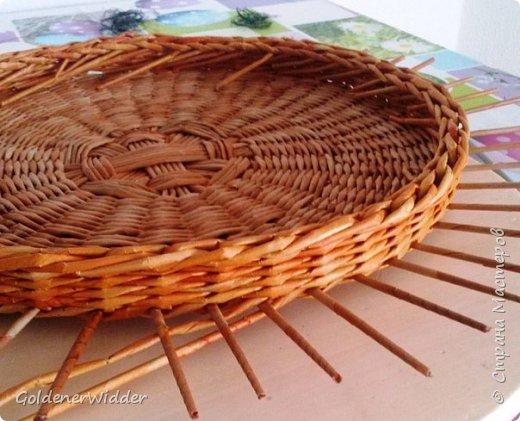 Мастер-класс Поделка изделие Плетение Внутренний бортик у крышки Трубочки бумажные фото 13