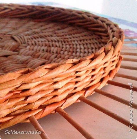 Мастер-класс Поделка изделие Плетение Внутренний бортик у крышки Трубочки бумажные фото 14