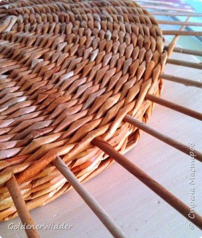 Мастер-класс Поделка изделие Плетение Внутренний бортик у крышки Трубочки бумажные фото 15