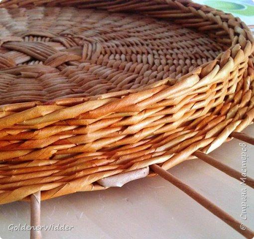 Мастер-класс Поделка изделие Плетение Внутренний бортик у крышки Трубочки бумажные фото 17