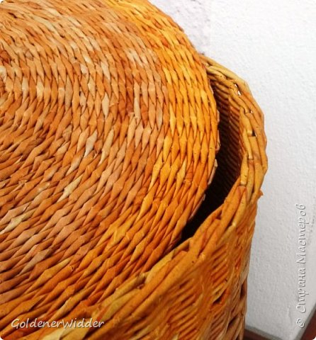 Мастер-класс Поделка изделие Плетение Внутренний бортик у крышки Трубочки бумажные фото 20