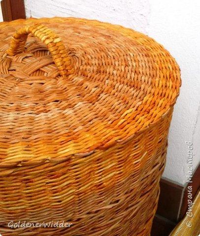 Мастер-класс Поделка изделие Плетение Внутренний бортик у крышки Трубочки бумажные фото 21
