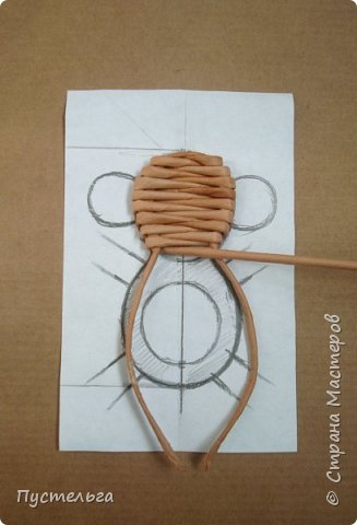 Мастер-класс Поделка изделие Плетение Обезьянки-неунывайки к Новому году Трубочки бумажные фото 4