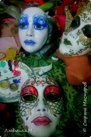 """Уважаемые жители """"Страны Мастеров""""! Свой первый мастер-класс я решила сделать не о куклах, а о масках. Потому что именно с масок начиналось моё увлечение лепкой. И ещё потому, что маска крупнее, и её делать проще, чем куклу, а технология одна и та же. фото 13"""