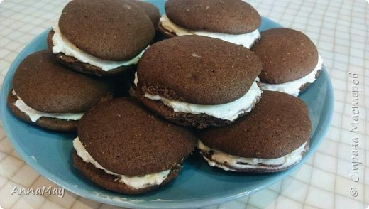 Мастер-класс Рецепт кулинарный Пирожное Вупи Пай - американские бисквиты фото 1