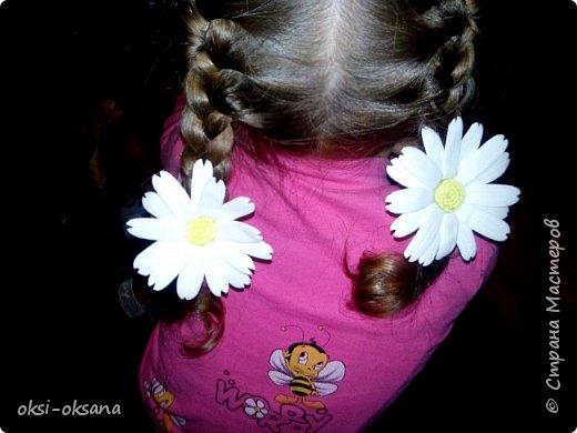 Добрый день жители СМ!!! Вот и я познакомилась с фоамираном... Первые ромашки для доченьки.