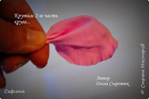 """Доброе время суток,мои дорогие! И вот снова, я Ольга Сыротюк с Вами! Сегодня представляю Вашему вниманию Мастер класс по созданию цветков """"Волнушки"""" из Фоама ... и Крепление атласн.ленты к ободку... Да, решила я сегодня отойти не много от реалистичности цветов...и предлагаю по фантазировать, по быть не много дизайнерами... В обработке венчиков, тоже Америку не открыла...данный способ давно всем известен, для тех кто занимался или занимается  цветами из ткани или атласных лент...Обжигание при помощи свечи или зажигалки... В МК показываю способ придание """"Волнушек"""" при помощи зажигалки... В итоге получился дизайнерский, нарядный, нежный  и в тоже время простой ободок....для Ваших очаровательных принцесс... К МК прилагаю видео с музыкальным сопровождением для вдохновения...  Приятного просмотра! фото 11"""