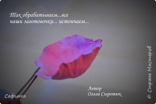 """Доброе время суток,мои дорогие! И вот снова, я Ольга Сыротюк с Вами! Сегодня представляю Вашему вниманию Мастер класс по созданию цветков """"Волнушки"""" из Фоама ... и Крепление атласн.ленты к ободку... Да, решила я сегодня отойти не много от реалистичности цветов...и предлагаю по фантазировать, по быть не много дизайнерами... В обработке венчиков, тоже Америку не открыла...данный способ давно всем известен, для тех кто занимался или занимается  цветами из ткани или атласных лент...Обжигание при помощи свечи или зажигалки... В МК показываю способ придание """"Волнушек"""" при помощи зажигалки... В итоге получился дизайнерский, нарядный, нежный  и в тоже время простой ободок....для Ваших очаровательных принцесс... К МК прилагаю видео с музыкальным сопровождением для вдохновения...  Приятного просмотра! фото 14"""