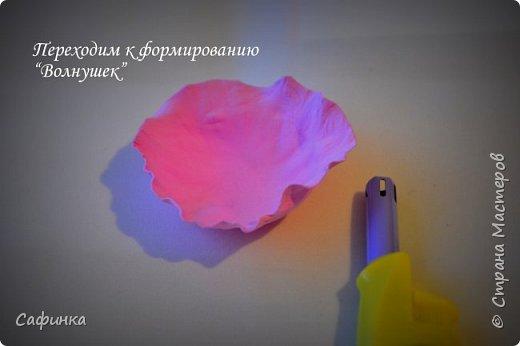 """Доброе время суток,мои дорогие! И вот снова, я Ольга Сыротюк с Вами! Сегодня представляю Вашему вниманию Мастер класс по созданию цветков """"Волнушки"""" из Фоама ... и Крепление атласн.ленты к ободку... Да, решила я сегодня отойти не много от реалистичности цветов...и предлагаю по фантазировать, по быть не много дизайнерами... В обработке венчиков, тоже Америку не открыла...данный способ давно всем известен, для тех кто занимался или занимается  цветами из ткани или атласных лент...Обжигание при помощи свечи или зажигалки... В МК показываю способ придание """"Волнушек"""" при помощи зажигалки... В итоге получился дизайнерский, нарядный, нежный  и в тоже время простой ободок....для Ваших очаровательных принцесс... К МК прилагаю видео с музыкальным сопровождением для вдохновения...  Приятного просмотра! фото 15"""