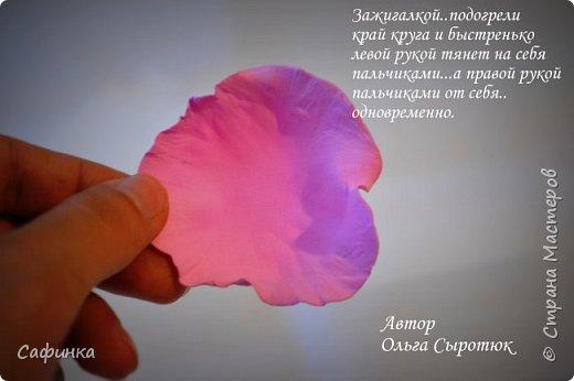 """Доброе время суток,мои дорогие! И вот снова, я Ольга Сыротюк с Вами! Сегодня представляю Вашему вниманию Мастер класс по созданию цветков """"Волнушки"""" из Фоама ... и Крепление атласн.ленты к ободку... Да, решила я сегодня отойти не много от реалистичности цветов...и предлагаю по фантазировать, по быть не много дизайнерами... В обработке венчиков, тоже Америку не открыла...данный способ давно всем известен, для тех кто занимался или занимается  цветами из ткани или атласных лент...Обжигание при помощи свечи или зажигалки... В МК показываю способ придание """"Волнушек"""" при помощи зажигалки... В итоге получился дизайнерский, нарядный, нежный  и в тоже время простой ободок....для Ваших очаровательных принцесс... К МК прилагаю видео с музыкальным сопровождением для вдохновения...  Приятного просмотра! фото 16"""