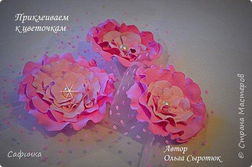 """Доброе время суток,мои дорогие! И вот снова, я Ольга Сыротюк с Вами! Сегодня представляю Вашему вниманию Мастер класс по созданию цветков """"Волнушки"""" из Фоама ... и Крепление атласн.ленты к ободку... Да, решила я сегодня отойти не много от реалистичности цветов...и предлагаю по фантазировать, по быть не много дизайнерами... В обработке венчиков, тоже Америку не открыла...данный способ давно всем известен, для тех кто занимался или занимается  цветами из ткани или атласных лент...Обжигание при помощи свечи или зажигалки... В МК показываю способ придание """"Волнушек"""" при помощи зажигалки... В итоге получился дизайнерский, нарядный, нежный  и в тоже время простой ободок....для Ваших очаровательных принцесс... К МК прилагаю видео с музыкальным сопровождением для вдохновения...  Приятного просмотра! фото 28"""