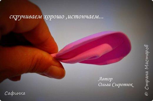 """Доброе время суток,мои дорогие! И вот снова, я Ольга Сыротюк с Вами! Сегодня представляю Вашему вниманию Мастер класс по созданию цветков """"Волнушки"""" из Фоама ... и Крепление атласн.ленты к ободку... Да, решила я сегодня отойти не много от реалистичности цветов...и предлагаю по фантазировать, по быть не много дизайнерами... В обработке венчиков, тоже Америку не открыла...данный способ давно всем известен, для тех кто занимался или занимается  цветами из ткани или атласных лент...Обжигание при помощи свечи или зажигалки... В МК показываю способ придание """"Волнушек"""" при помощи зажигалки... В итоге получился дизайнерский, нарядный, нежный  и в тоже время простой ободок....для Ваших очаровательных принцесс... К МК прилагаю видео с музыкальным сопровождением для вдохновения...  Приятного просмотра! фото 8"""