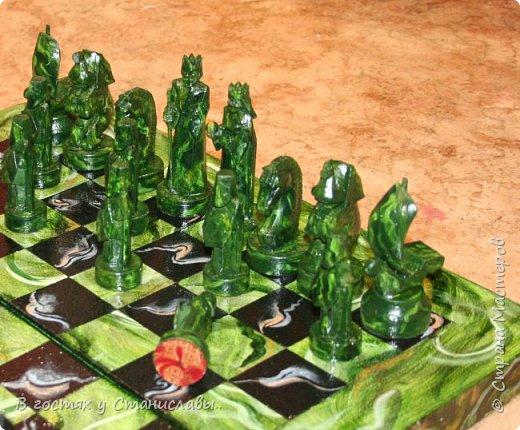 Мои малахитовые шахматы фото 1