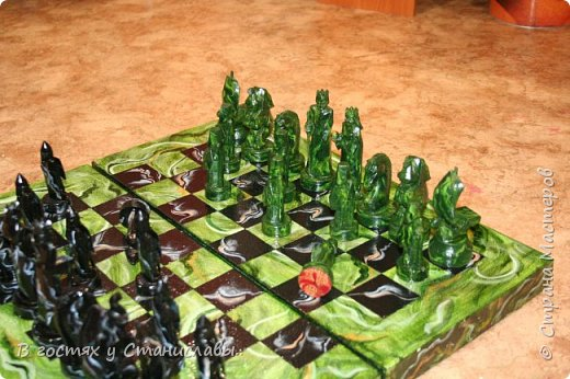 Мои малахитовые шахматы фото 10