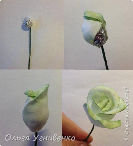 Приветствую всех жителей и гостей прекрасной СТРАНЫ МАСТЕРОВ!!  Предлагаю Вашему вниманию мой небольшой МК по изготовлению розы из фоамирана.  Изрезав не один лист фома, хочу поделиться своими особенностями работы с этим увлекательным материалом. фото 13