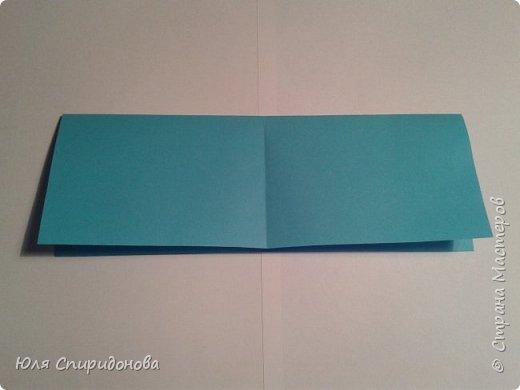 Этот модуль складывается из прямоугольника цветной или белой бумаги. Такие прямоугольники можно получить делением формата А4 на равные части. Как показано ниже или же начертить определенный размер. фото 4