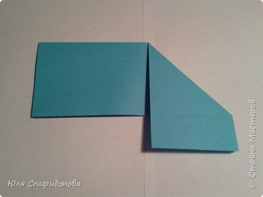 Этот модуль складывается из прямоугольника цветной или белой бумаги. Такие прямоугольники можно получить делением формата А4 на равные части. Как показано ниже или же начертить определенный размер. фото 5