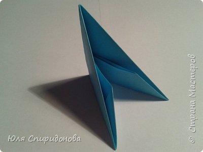 Этот модуль складывается из прямоугольника цветной или белой бумаги. Такие прямоугольники можно получить делением формата А4 на равные части. Как показано ниже или же начертить определенный размер. фото 1