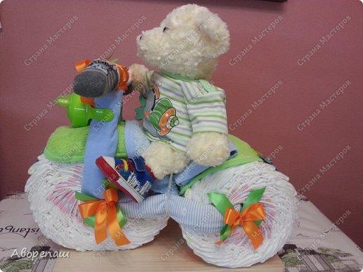 Доброго времени суток! Хочу показать мой заказик на рождение мальчика, Артемки.  Просили только не в голубых цветах - зеленый, оранжевый... В итоге вот что получилось)