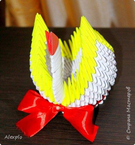 Доброго вечера всем, хочу поделиться своей новой поделкой в технике модульного оригами :) Сделал ее из остатков готовых модулей, на работу потратил около 40-50 минут фото 2