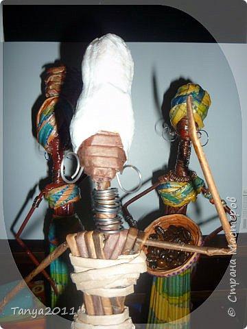 Мастер-класс Поделка изделие Декупаж Моделирование конструирование Плетение Африканочки Вариации на тему Бумажные полосы фото 15