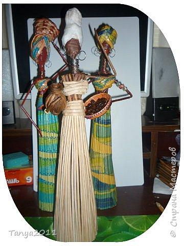 Мастер-класс Поделка изделие Декупаж Моделирование конструирование Плетение Африканочки Вариации на тему Бумажные полосы фото 19