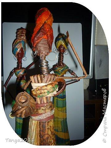 Мастер-класс Поделка изделие Декупаж Моделирование конструирование Плетение Африканочки Вариации на тему Бумажные полосы фото 21
