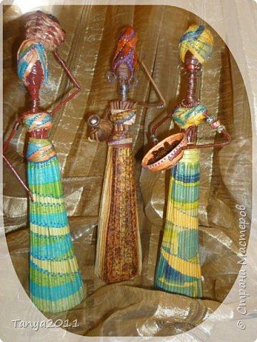 Мастер-класс Поделка изделие Декупаж Моделирование конструирование Плетение Африканочки Вариации на тему Бумажные полосы фото 23