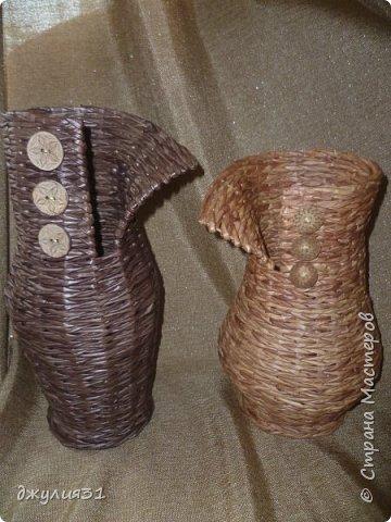 """каждая новая вазочка-джемпрок получается со своим """"характером"""", как бы я не старалась их плести одинаковыми фото 1"""