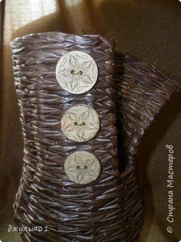 """каждая новая вазочка-джемпрок получается со своим """"характером"""", как бы я не старалась их плести одинаковыми фото 4"""