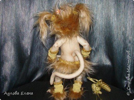 Куклы Новый год Шитьё Обезьянка Новогодняя Капрон Мех Ткань фото 2