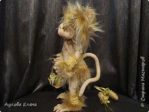 Куклы Новый год Шитьё Обезьянка Новогодняя Капрон Мех Ткань фото 3