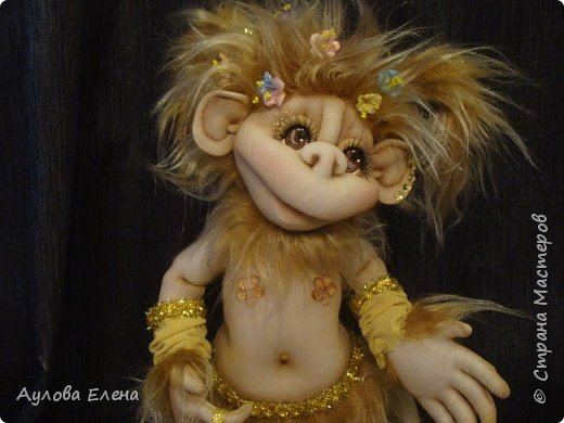 Как сделать обезьяну из капрона и синтепона