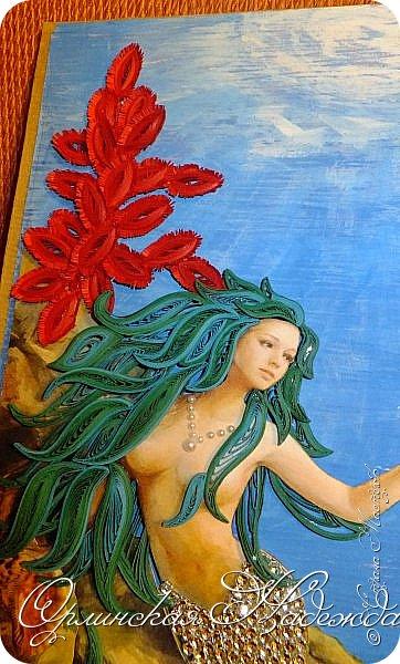 """Добрый вечер, уважаемые жители Страны Мастеров!  Выставляю на Ваш суд очередную работу.  Благодарю Мастеров у которых могла посмотреть и поучиться: Лизу ( azil ) - волосы """" Голубого Ангела """",  Татьяну ( Saphir ) - """" Золотая рыбка """",  Ольгу Ольшак - жемчужина и красные кораллы,  Елену ( Дама-кусудама ) - морские водоросли и губки.     Рыбка, рыбка помоги, золотая сделай милость...  Загадывайте желания!!! фото 18"""
