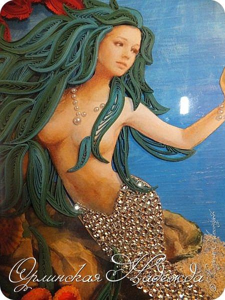 """Добрый вечер, уважаемые жители Страны Мастеров!  Выставляю на Ваш суд очередную работу.  Благодарю Мастеров у которых могла посмотреть и поучиться: Лизу ( azil ) - волосы """" Голубого Ангела """",  Татьяну ( Saphir ) - """" Золотая рыбка """",  Ольгу Ольшак - жемчужина и красные кораллы,  Елену ( Дама-кусудама ) - морские водоросли и губки.     Рыбка, рыбка помоги, золотая сделай милость...  Загадывайте желания!!! фото 19"""