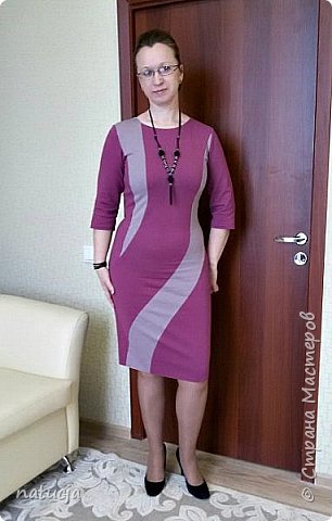 """трикотажное платье. выкройка """" леко"""", модель 4441"""