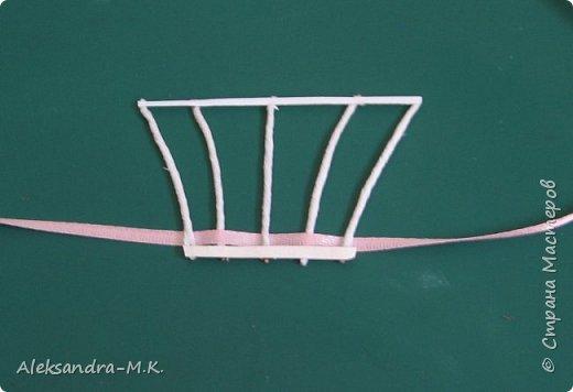 Картина панно рисунок Мастер-класс Квиллинг Плетение МК корзинки Бумага Бумага гофрированная Бумажные полосы Ленты фото 4