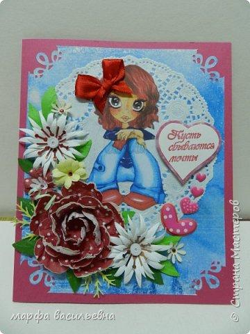 Добрый день,обитатели Страны Мастеров.Представляю вашему вниманию открыточки для маленьких девочек.Мне понравилась эта тема.